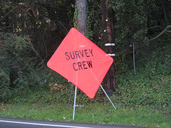 Survey Crew road sign