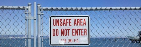 unsafe area