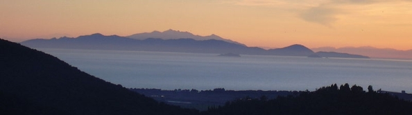 Elba seen from Tuscany