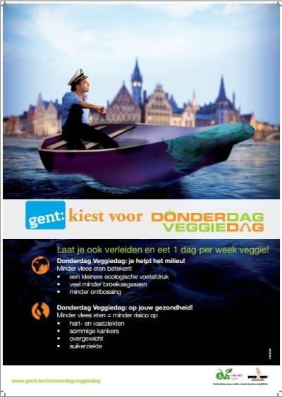 In Ghent, Belgium, every Thursday is officially Veggie Day